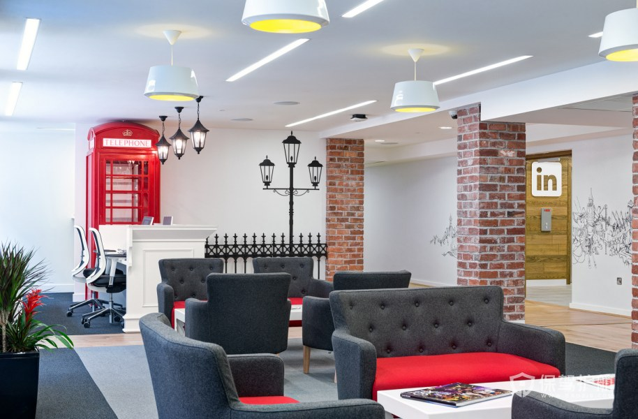 现代混搭风格办公室接待区装修效果图