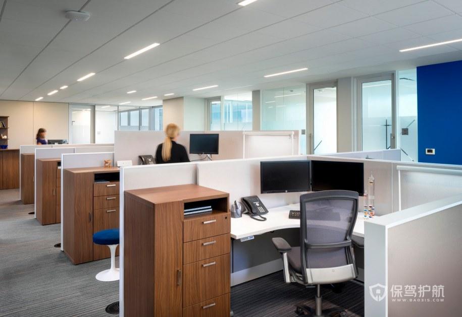 现代美式混搭办公室办公区装修效果图