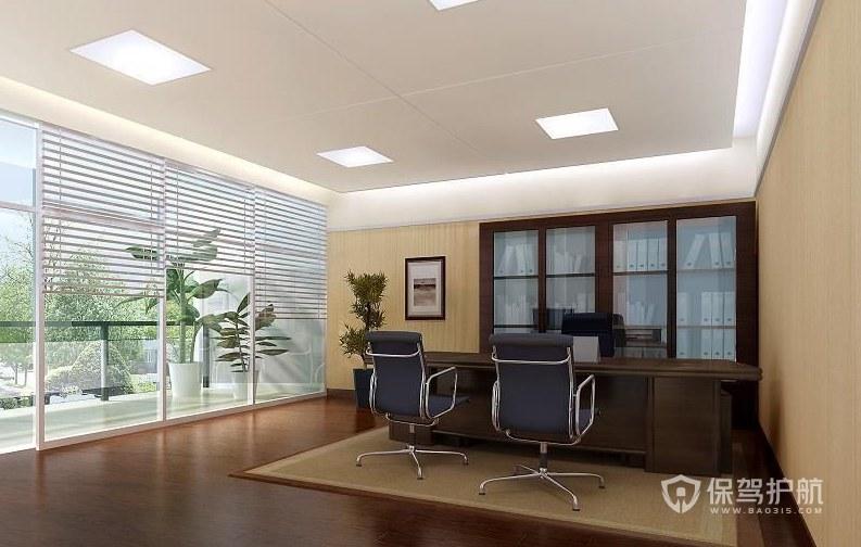 現代中式領導辦公室裝修效果圖