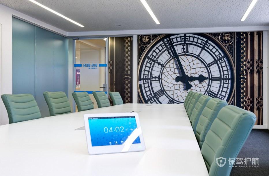 现代混搭风格办公会议室装修效果图