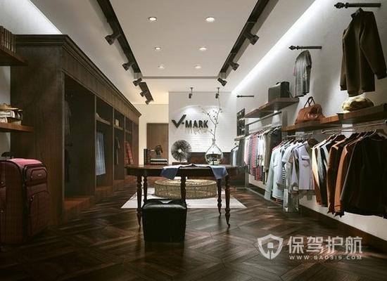 复古风格50平米服装店装修效果图