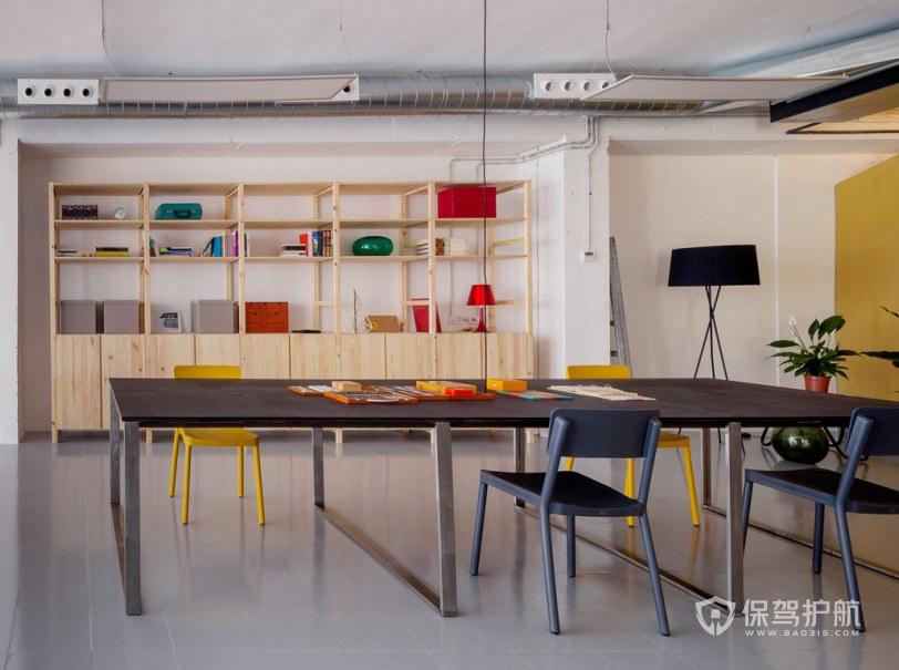开放式办公室阅览区装修效果图
