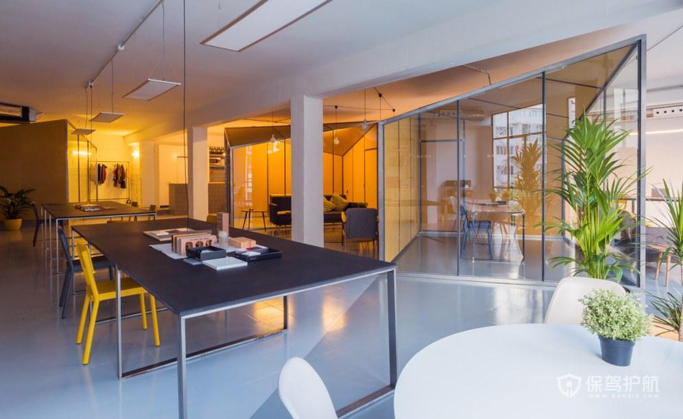 开放式办公室会议区装修效果图