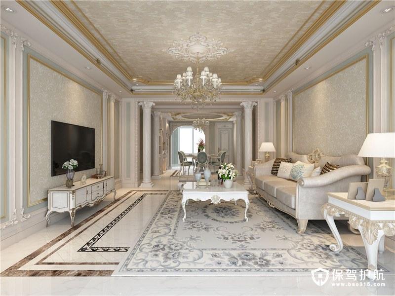 奥林匹克花园简约欧式风格三居室装修…