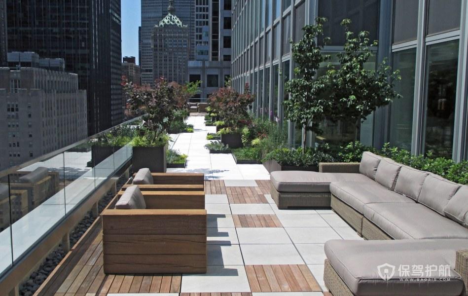 现代风格办公室露台休闲区装修效果图