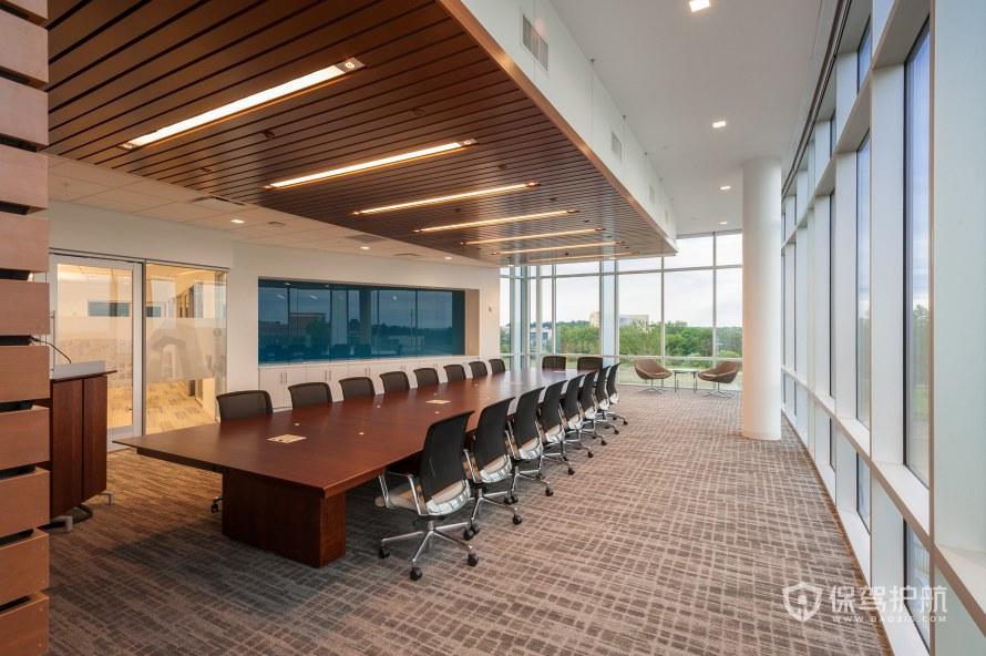 现代风格办公会议室装修效果图