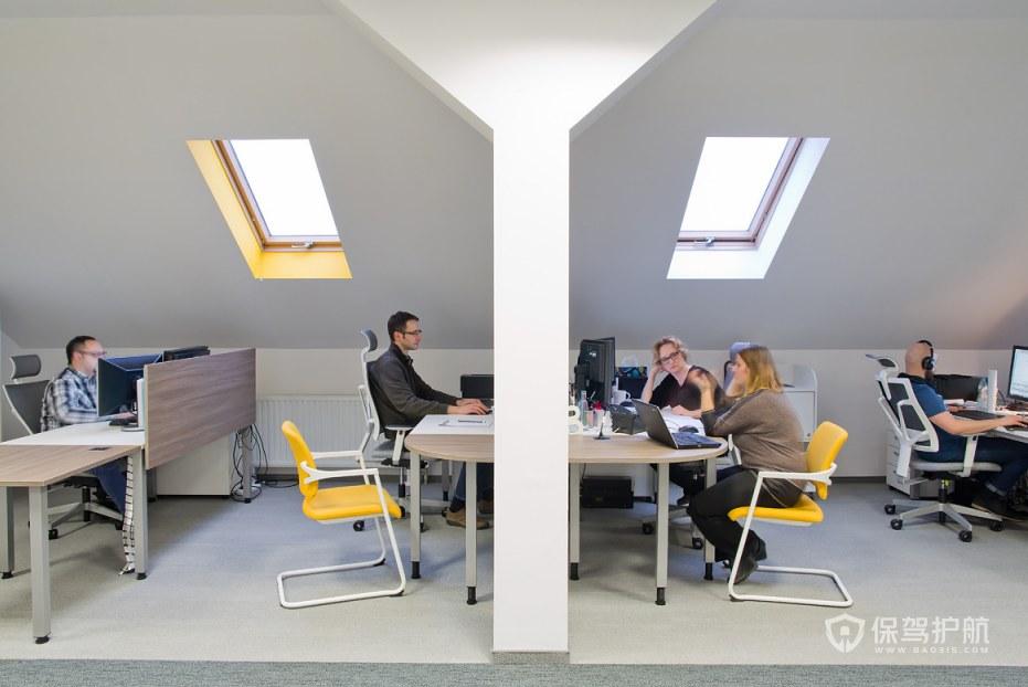 极简风格办公室办公区装修效果图