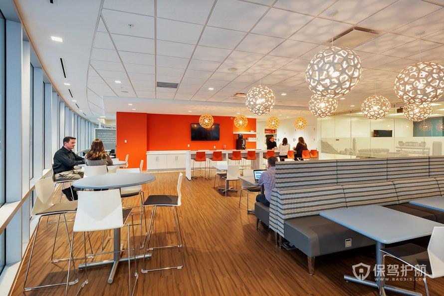现代风格办公室茶水用餐区装修效果图