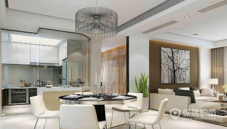 客厅餐厅厨房一体怎么装?客厅餐厅厨房一体装修效果图