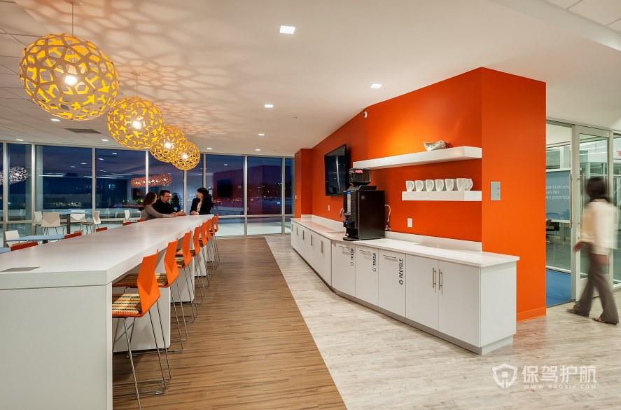 现代风格办公室茶水区装修效果图