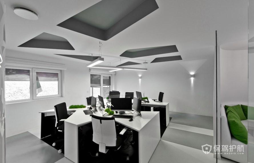 极简风办公室办公区装修效果图