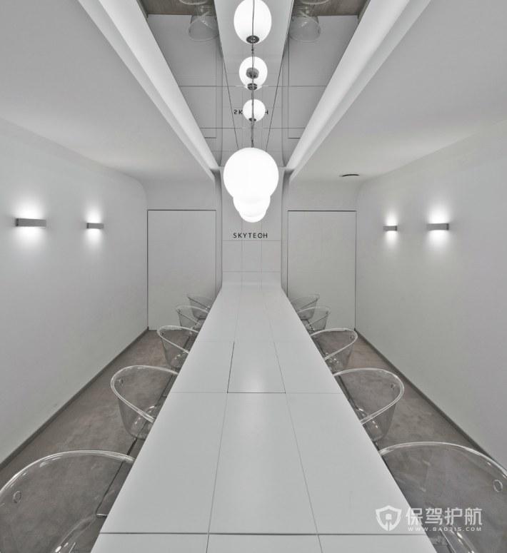 极简风办公会议室装修效果图