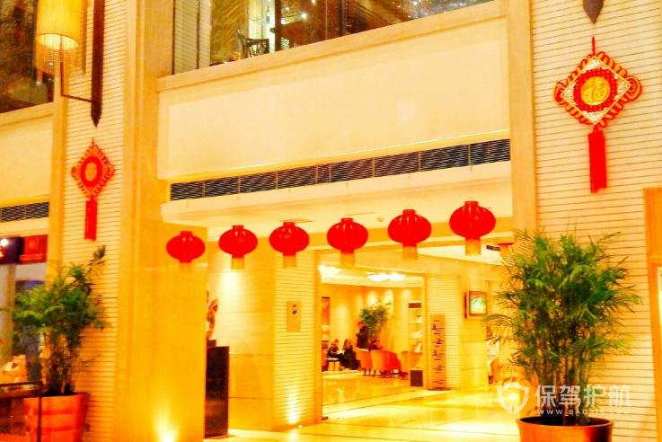 过年酒店大堂如何布置?酒店大堂春节装饰方案