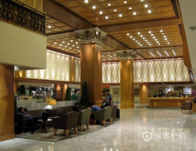 现代日式酒店大厅装修效果图