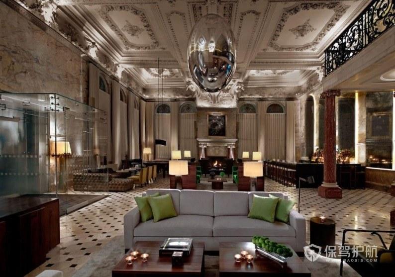 摩洛哥复古文艺风酒店大厅装修效果…