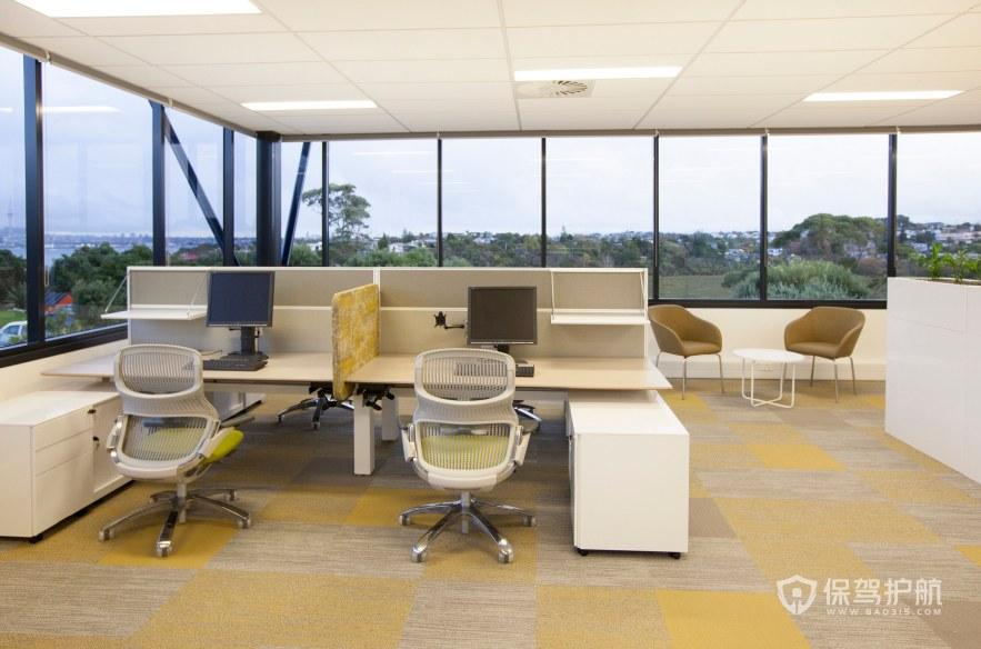后现代办公室办公区装修效果图