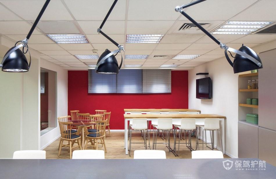 现代办公室用餐区装修效果图