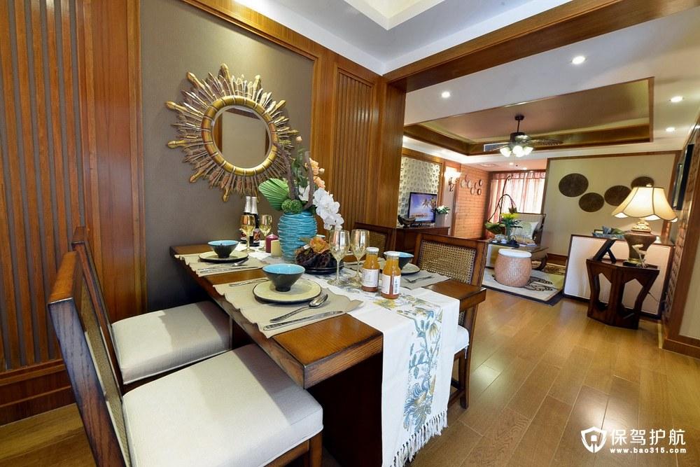裕天幸福海新中式风格两室两厅装修效…