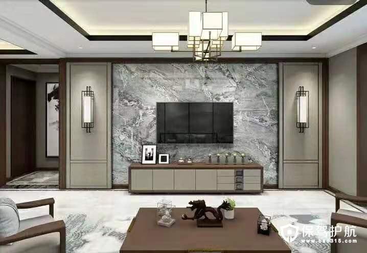 纳帕溪谷新中式风格四居室装修效果图…