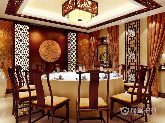 中式古典風格小吃店包廂裝修效果圖