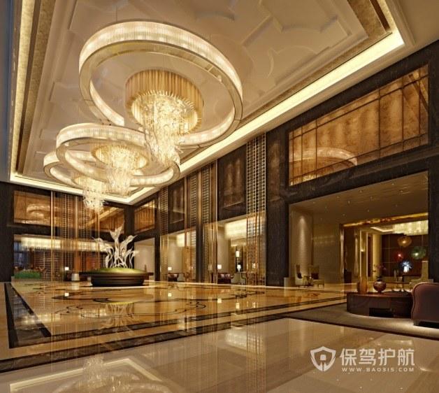欧式豪华酒店大厅装修效果图