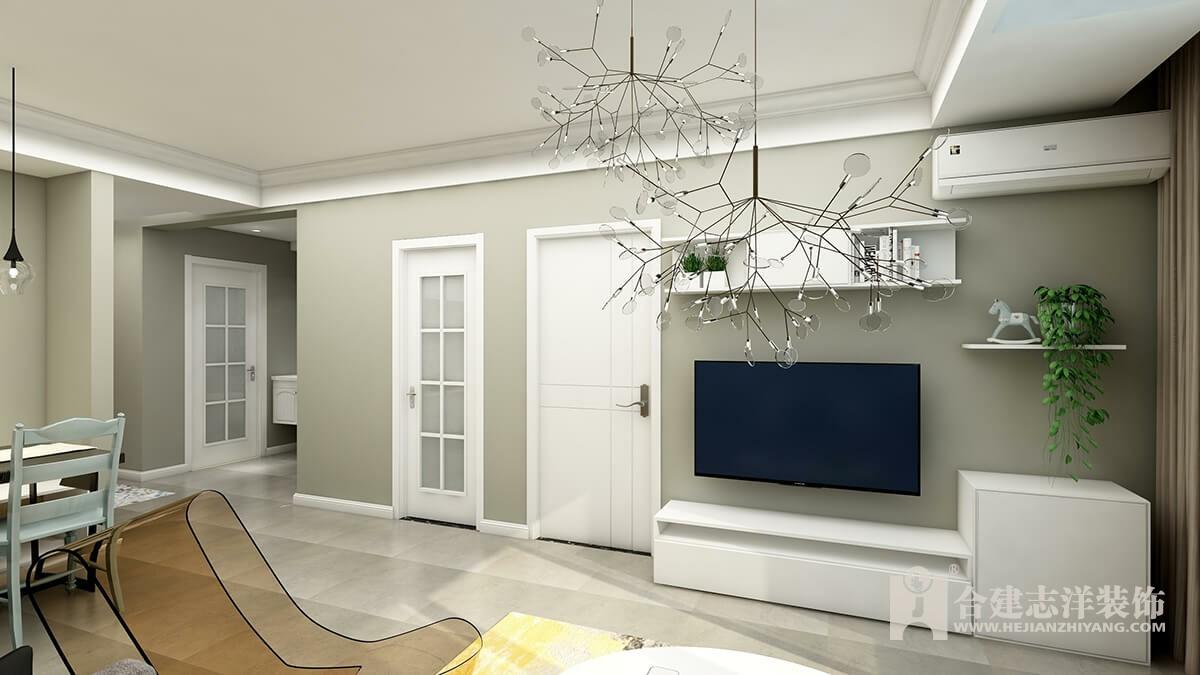 【合建装饰】 两室户型 简单舒适的风格