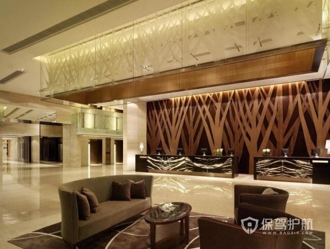 西班牙簡約溫馨酒店大廳裝修效果圖