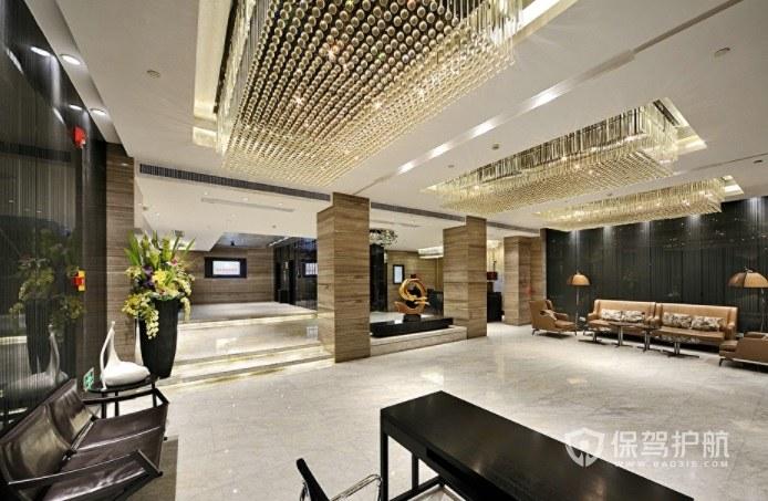 西式极简风酒店大厅装修效果图
