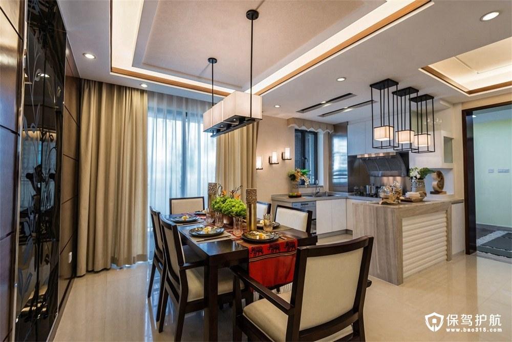 融侨悦府新中式风格两室两厅装修效果…