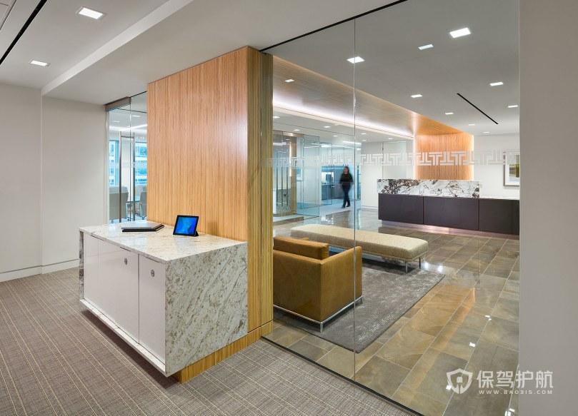 后現代辦公室門廳裝修效果圖