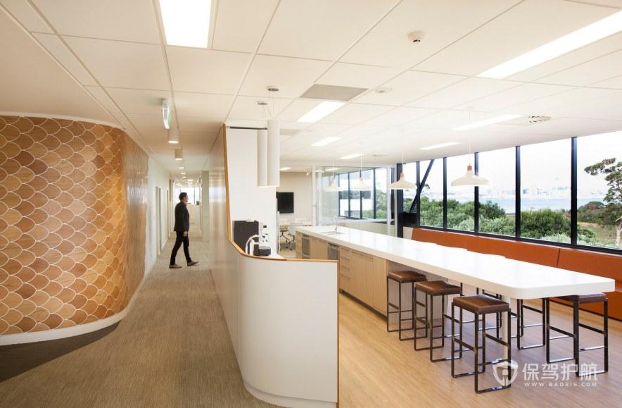 开放式办公室茶水区装修效果图
