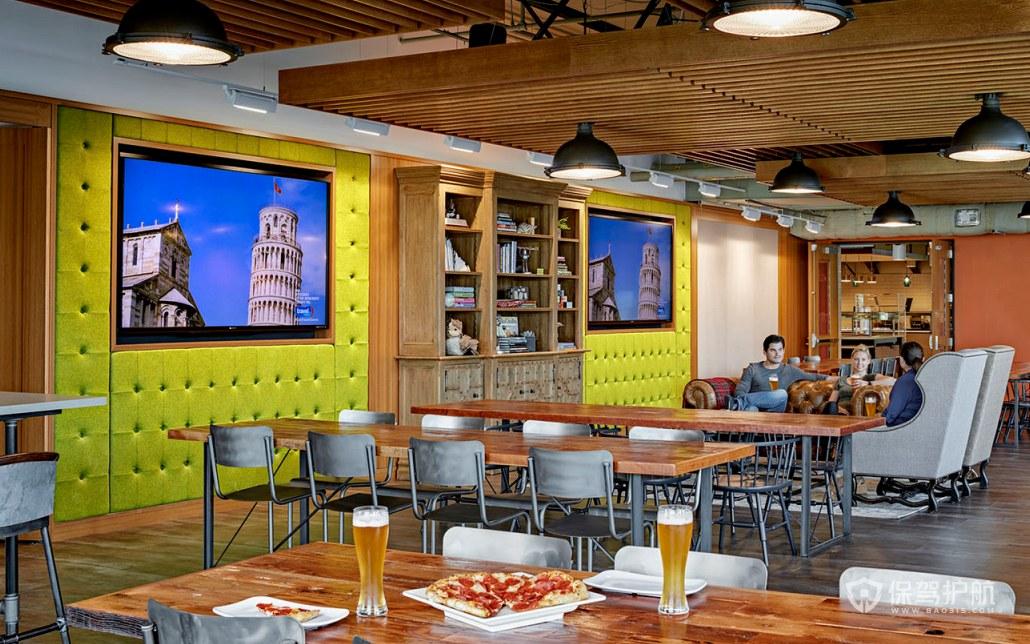 混搭风格办公室用餐区装修效果图
