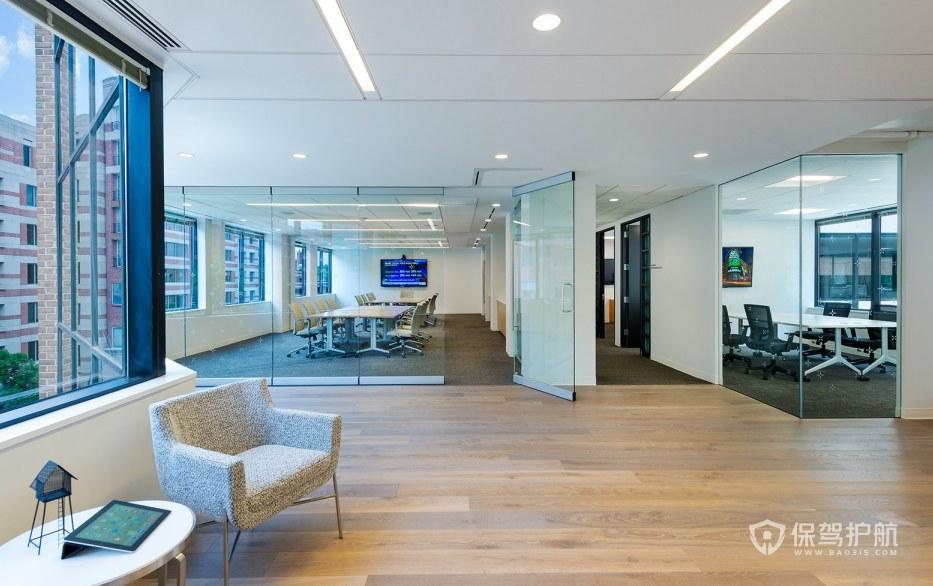 现代简约风格办公会议室装修效果图