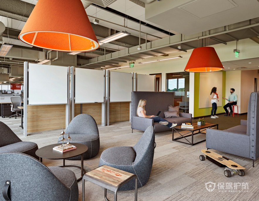 北欧风格办公室接待大厅装修效果图