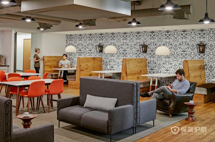 开放式办公室茶水用餐区装修效果图