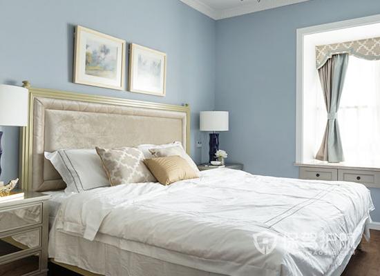 夫妻卧室颜色装修效果图-烂漫蓝