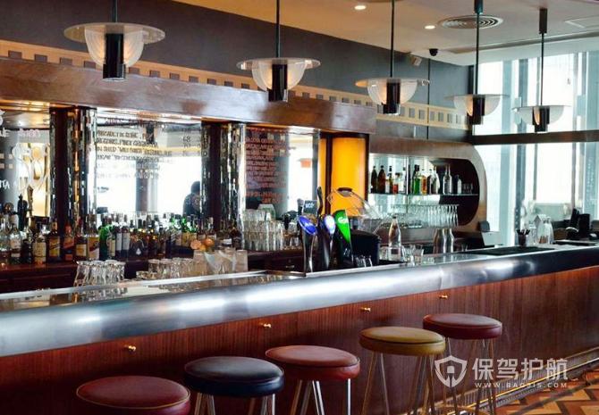 美式风格咖啡店吧台装修效果图