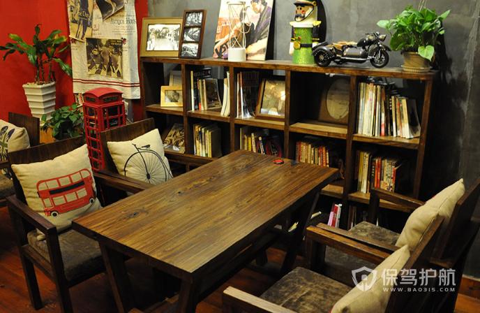 美式古典风格咖啡店创意设计效果图