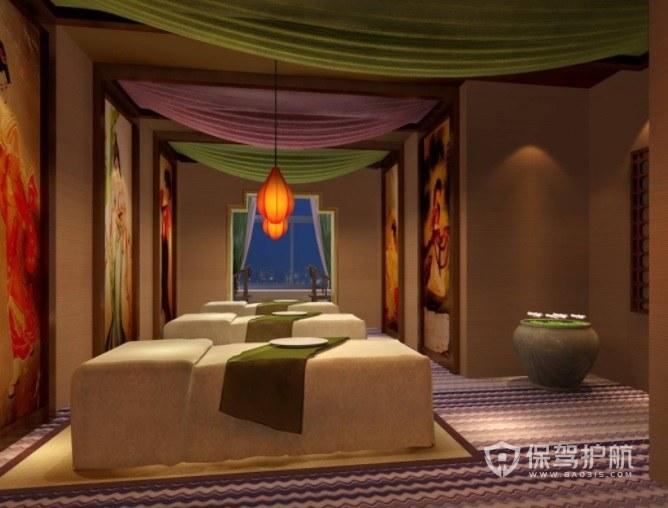 东南亚创意美容院房间装修效果图