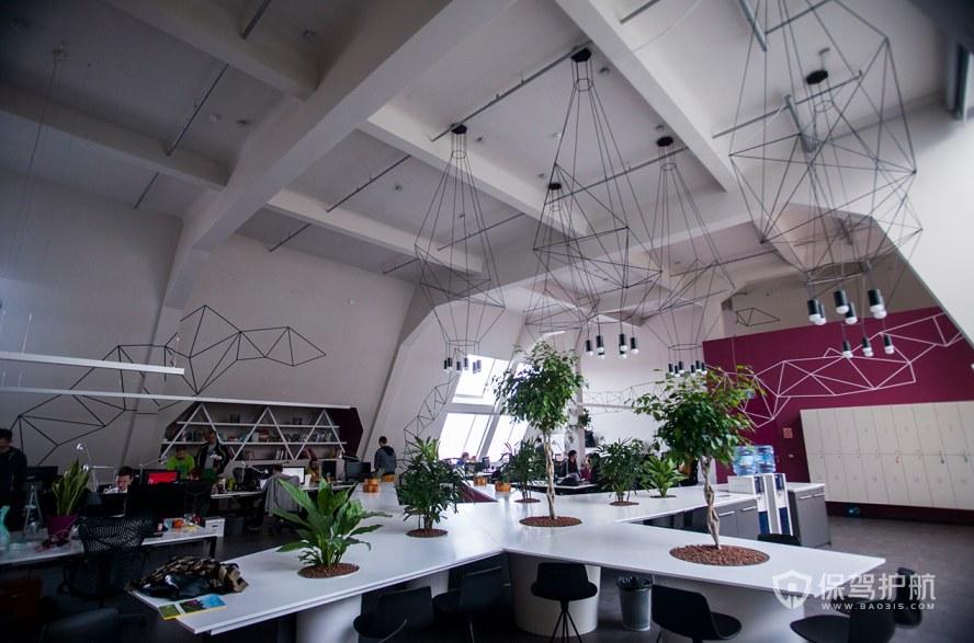 创意简约办公室办公区装修效果图