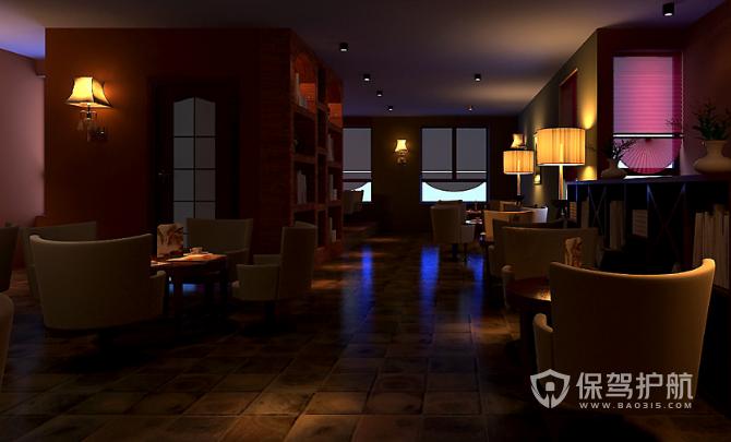 美式风格咖啡店沙发装修效果图
