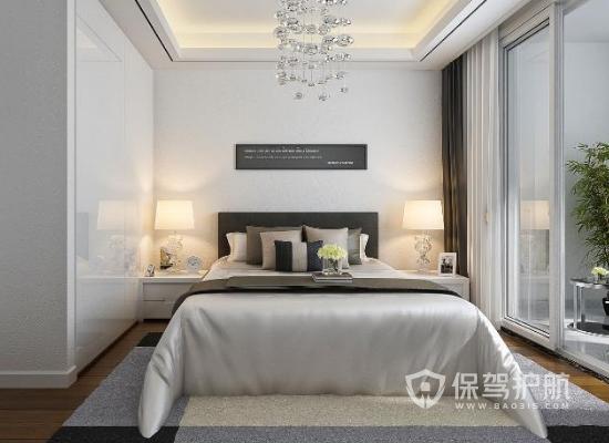 夫妻卧室颜色装修效果图-经典白