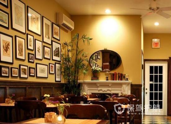 美式风格咖啡店壁画设计效果图