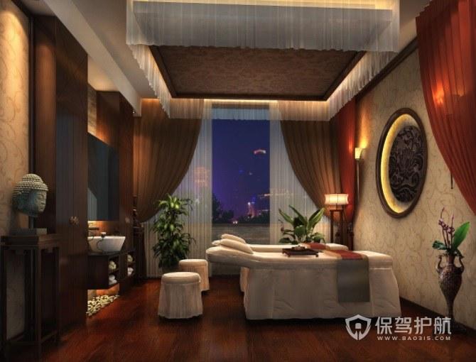 新中式轻奢美容院房间装修效果图