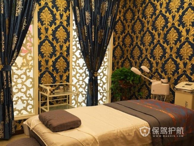 欧式复古豪华美容院房间装修效果图