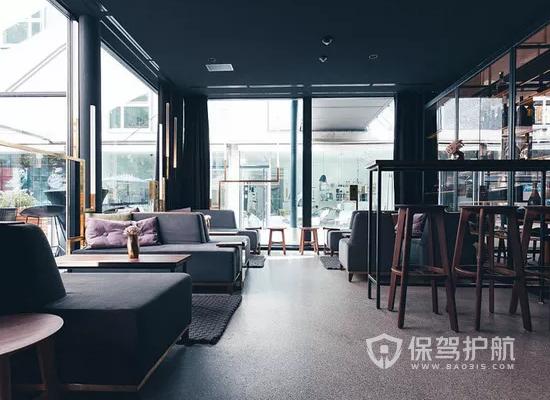 美式风格文艺咖啡厅装修效果图