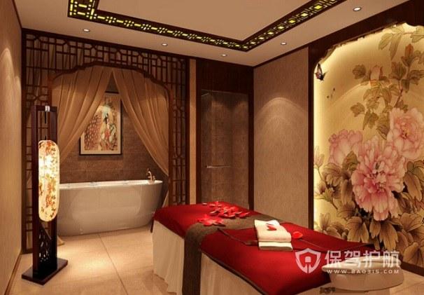 中式古典文雅美容院房间装修效果图