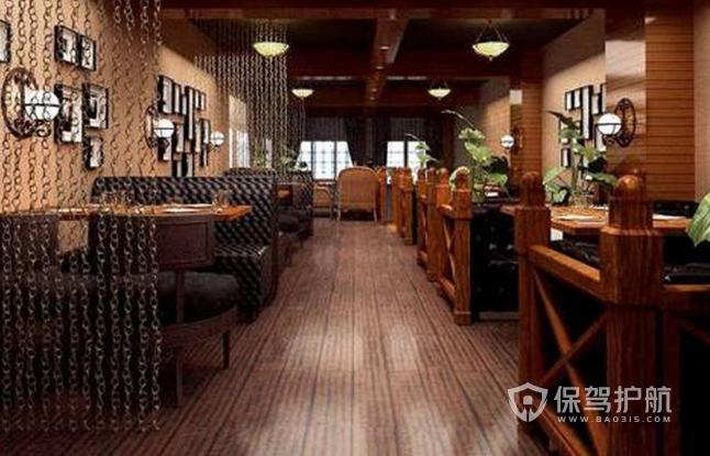简约风格咖啡店过道装修效果图