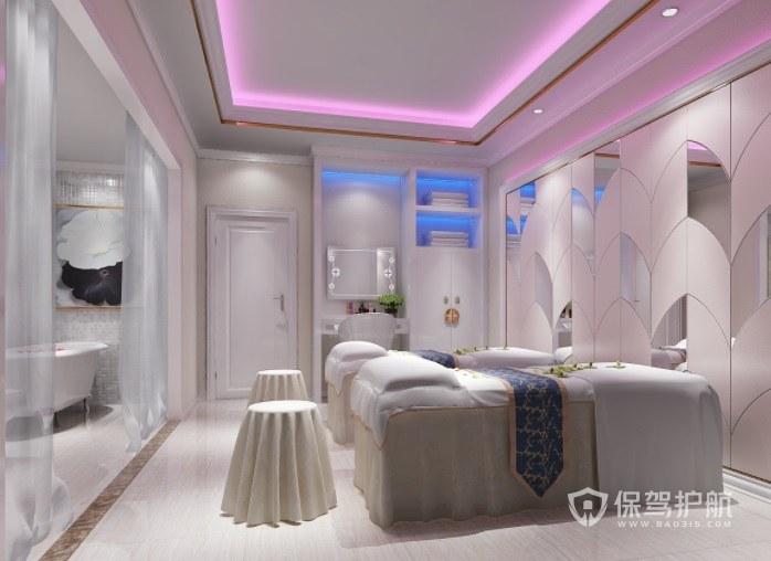现代美式时尚美容院房间装修效果图
