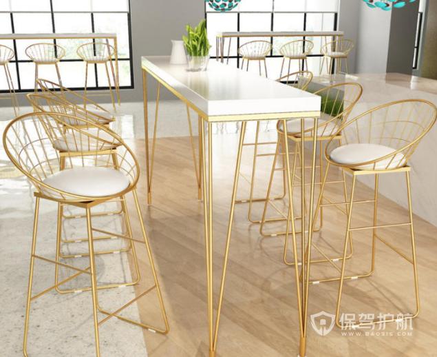 简欧风格咖啡店休闲桌椅设计效果图
